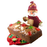 Christmas fruit cake. Picture of a Christmas fruit cake Stock Photos