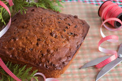 Christmas fruit cake is ready for storage Royalty Free Stock Photos