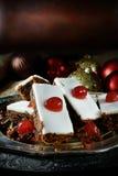 Christmas Fruit Cake Slices Royalty Free Stock Photography