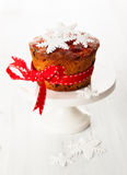 Christmas fruit cake Royalty Free Stock Image