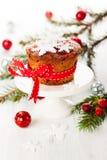 Christmas fruit cake Stock Image