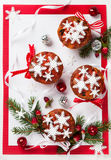 Christmas fruit cakes Royalty Free Stock Image