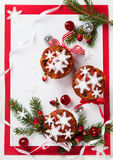 Christmas fruit cakes Royalty Free Stock Photos