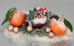 Christmas Fruit Decoration Royalty Free Stock Photo