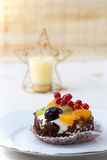 Christmas fruit fancy cake Royalty Free Stock Photography