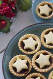 Christmas Fruit Mince with Decoration from Above Royalty Free Stock Photo