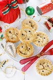 Christmas fruit mince pie close up Stock Photo