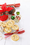 Christmas fruit mince pie Royalty Free Stock Images