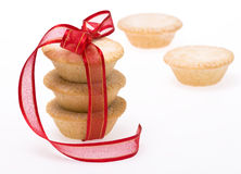 Christmas fruit mince pies royalty free stock image