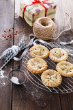 Christmas fruit mince pies Stock Images