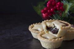 Christmas Fruit Mince Pies Horizontal Stock Photography