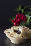 Christmas Fruit Mince Pies Vertical Royalty Free Stock Photos