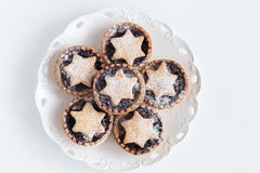 Christmas Fruit mince tarts Stock Photo