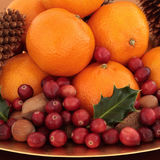 Christmas Fruit and Nuts Royalty Free Stock Image