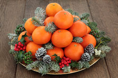 Christmas Fruit Royalty Free Stock Photography