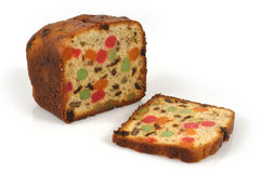 Christmas fruitcake Stock Images