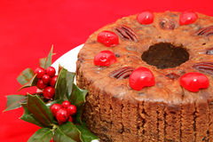 Christmas Fruitcake Closeup Royalty Free Stock Images
