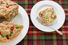 Christmas Fruitcake Stock Photos