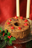 Christmas Fruitcake Still Life Stock Photography
