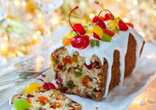 Christmas fruitcake Stock Photography