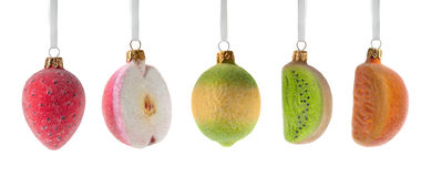Christmas fruits decoration Royalty Free Stock Photos