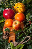 Christmas fruits Royalty Free Stock Photo