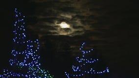 Christmas Full Moon Stock Image
