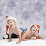 Christmas fun kids Royalty Free Stock Image