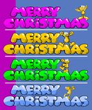 Christmas fun postcard Royalty Free Stock Image