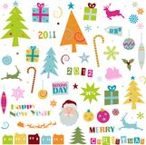 Christmas funky elements Royalty Free Stock Photos