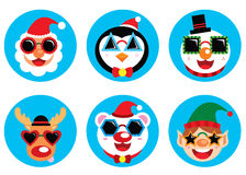 Christmas funky icon stock illustration