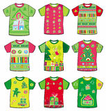 Christmas funky t-shirts Stock Photo