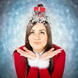 Christmas is funnier with presents Royalty Free Stock Photography