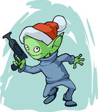 Christmas funny alien Stock Photos