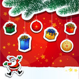 Christmas funny background Stock Photo