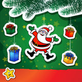Christmas funny background Royalty Free Stock Images