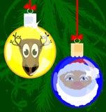 Christmas funny balls Stock Photography