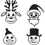 Christmas funny muzzles Royalty Free Stock Photos