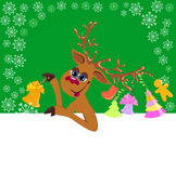 Christmas funny Reindeer Royalty Free Stock Images