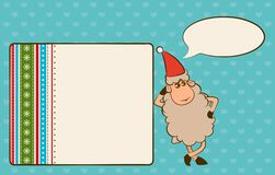Christmas funny sheep Stock Photos