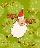 Christmas funny sheep Stock Photo
