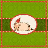 Christmas funny sheep Royalty Free Stock Photos