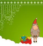 Christmas funny sheep Royalty Free Stock Images