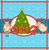 Christmas funny sheep Stock Photo