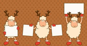 Christmas funny sheep. Stock Images