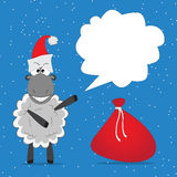 Christmas funny sheep Royalty Free Stock Photo