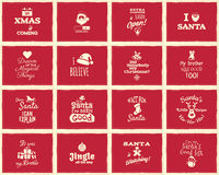Christmas funny signs, quotes backgrounds designs royalty free illustration