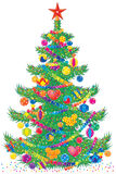 Christmas fur-tree. Children's illustration (clip-art) Christmas fur-tree for yours design, post card, album, cover, scrapbook, packing etc Royalty Free Stock Image