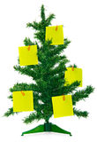 Christmas fur-tree with notes Royalty Free Stock Image