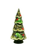 Christmas fur-tree souvenir, isolated on white Stock Photo